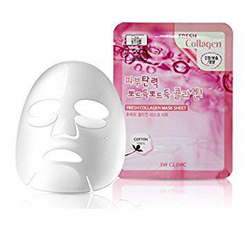 Тканевая корейская маска для подтяжки лица 3W CLINIC Fresh Mask Sheet Collagen