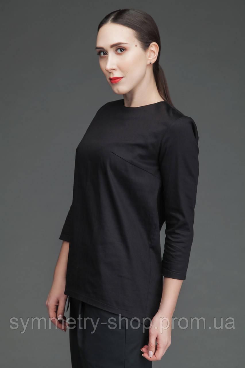 T003 Медицинская блуза чёрная
