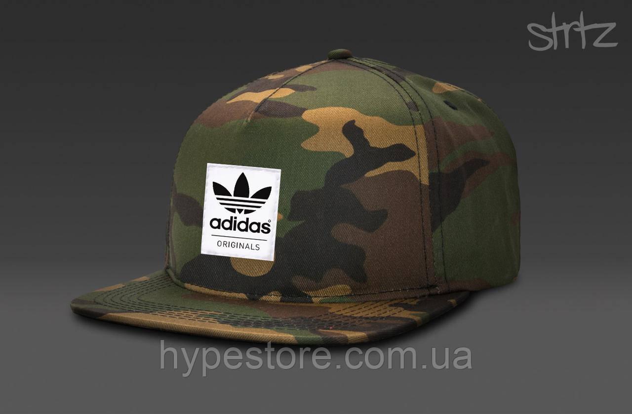 Кепка, cнепбек Adidas Originals, Адидас Ориджиналс (камуфляж), Реплика