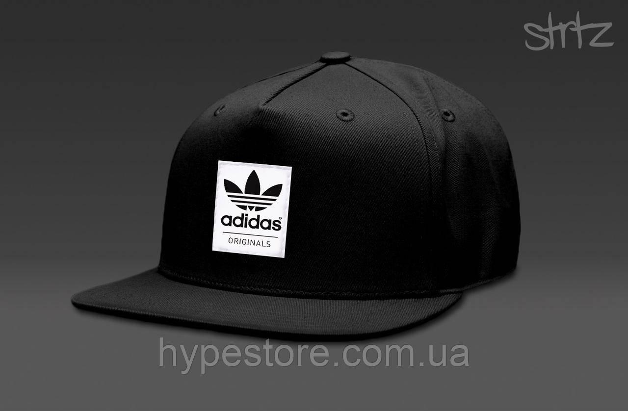 Кепка, cнепбек Adidas Originals, Адидас Ориджиналс (черный), Реплика