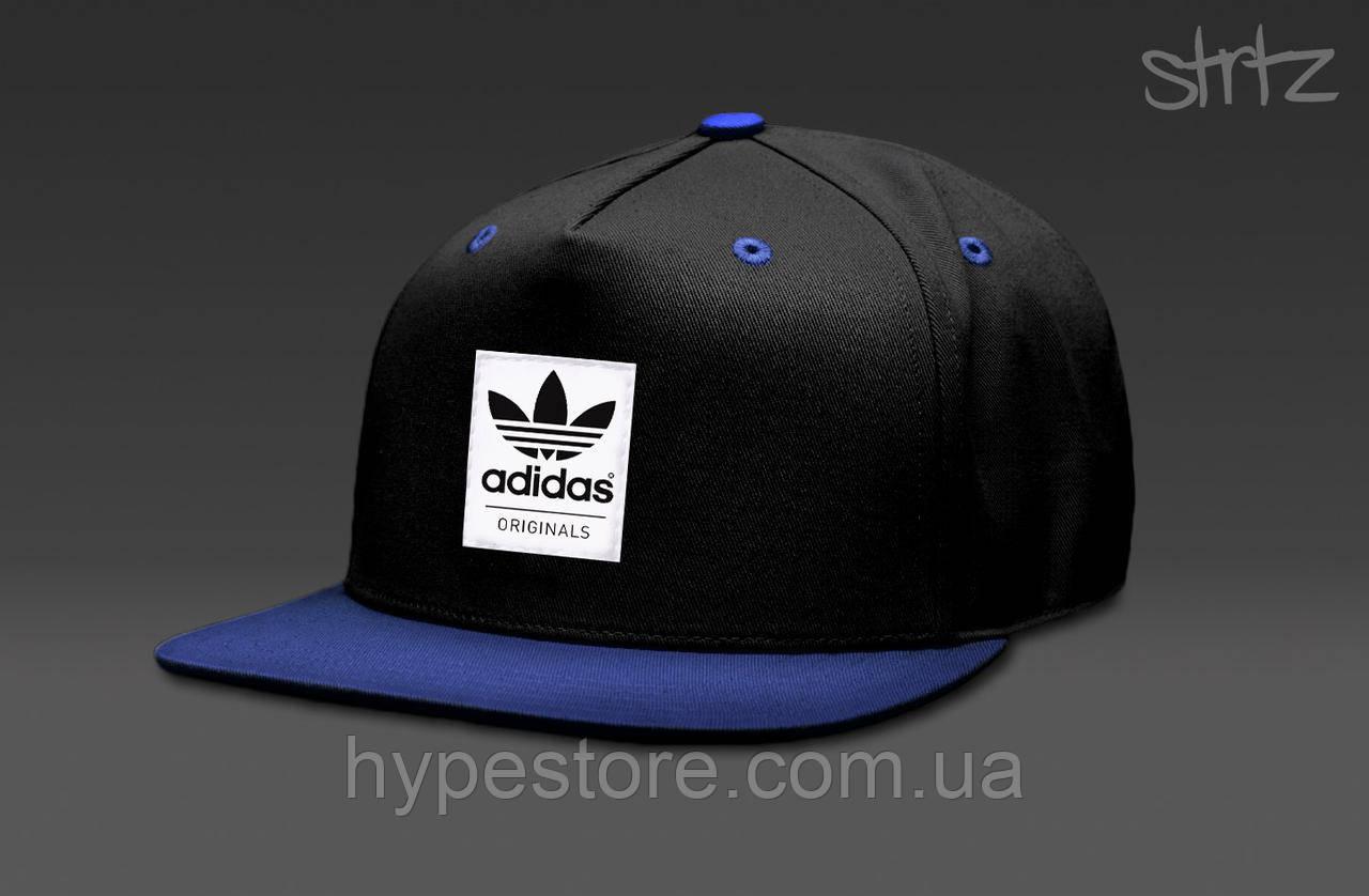 Кепка, cнепбек Adidas Originals, Адидас Ориджиналс (черно-синий), Реплика