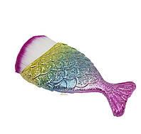 Кисть для макияжа Рыбка (скошенный синтетический ворс)
