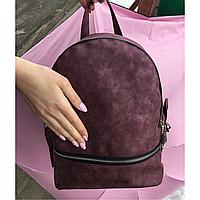 Рюкзак бордовый из эконубука