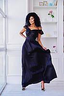 Стильное женское вечернее платье макси С, М +большие размеры
