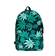 Новинка !!! Рюкзак школьный городской марихуана листья конопля, фото 1