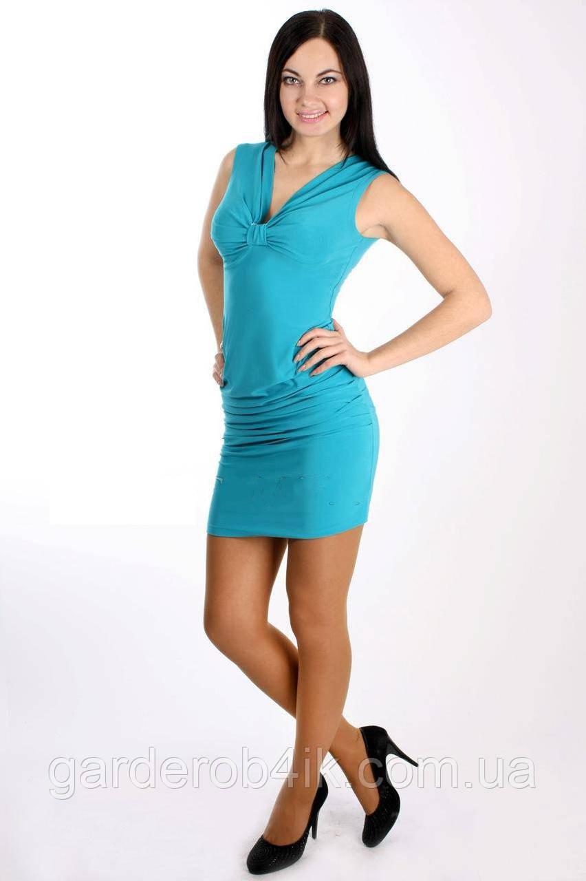 Женское летнее платье бирюзовое