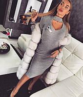 Красивое теплое платье миди тв-03043-1