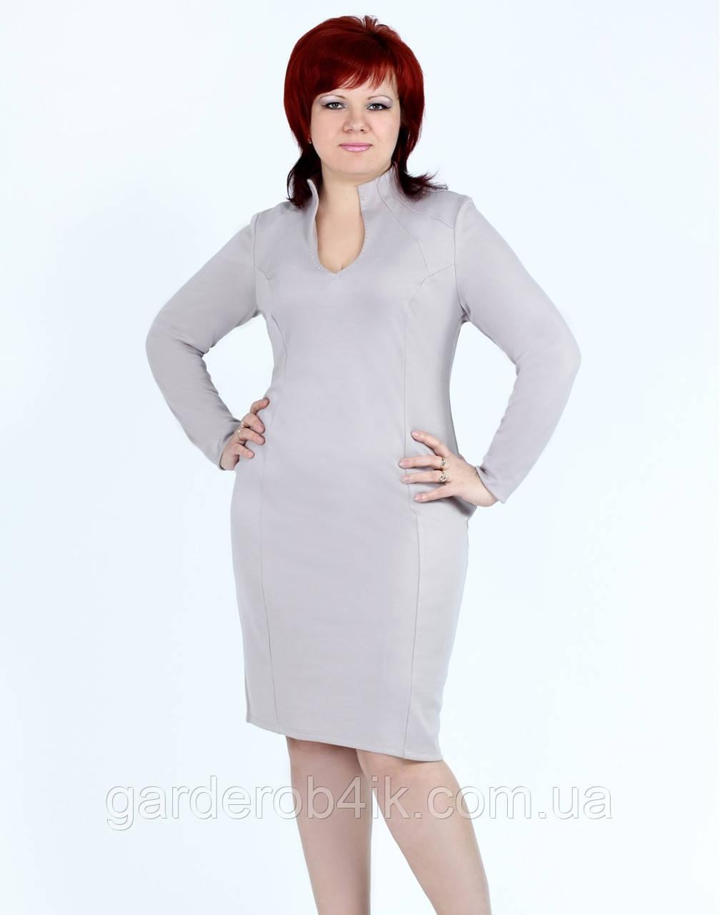 Стильное женское платье серое