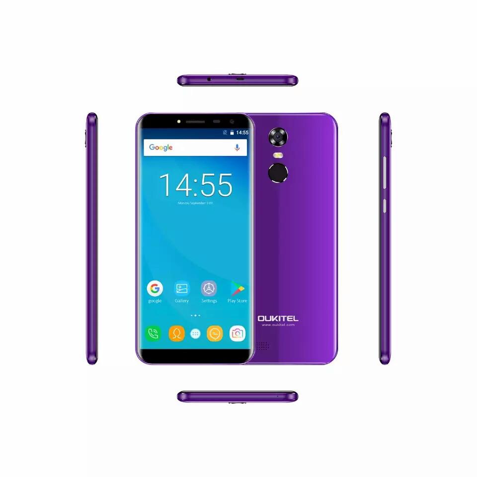 Смартфон Oukitel C8 Purple (фиолетовый)  2/16Gb + чехол
