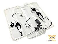 Силиконовый чехол Cat Art для Meizu M5S
