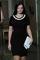 Женское офисное платье цвет черный