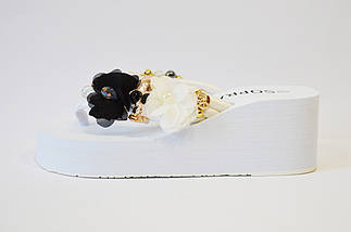 Вьетнамки c черепом белые Sopra 10038, фото 3