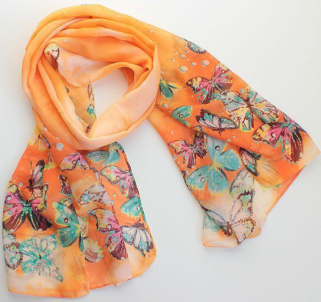 Женский шарф 150 на 50 dress 12-248_оранж
