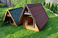 Двухскатная будка для собак