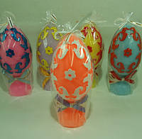 Яйцо Барокко / Свеча Пасхальная 12x5x5 см