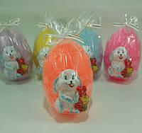 Яичко с Кроликом / Свеча Пасхальная 8x6x5 см