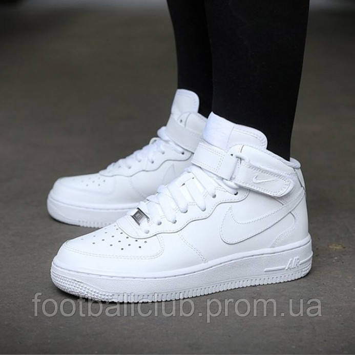 "Nike Air Force 1 Mid ""All White"" 315123-111"