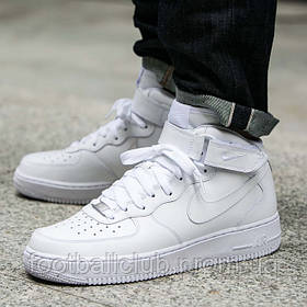 """Кроссовки Nike Air Force 1 Mid """"All White"""" 315123-111"""