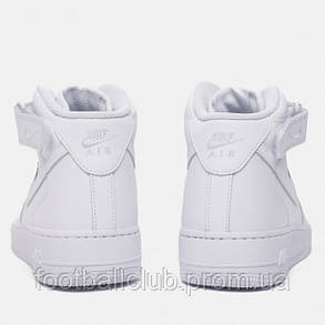 """Кроссовки Nike Air Force 1 Mid """"All White"""" 315123-111, фото 2"""