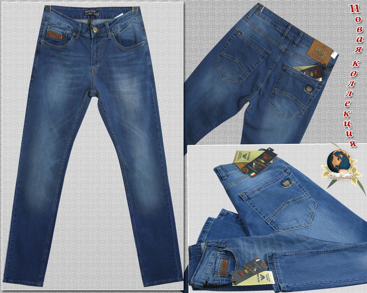 040523a448c Джинсы мужские классические Armani светло-синего цвета - Jeans Planet  -джинсовая одежда для всей
