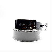 Мужской кожаный ремень Lacoste черного цвета ETR-216690, фото 1