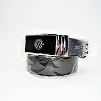 Мужской кожаный ремень Volkswagen черного цвета ETR-216039, фото 1