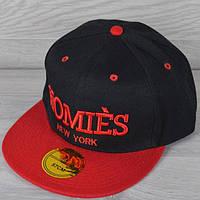 """Реперка мужская """"Homies NY"""". Размер 57-58 см. Черная+красный. Оптом и в розницу."""