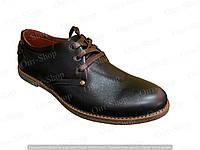 Туфли мужские кожаные на шнурках, мужские туфли кожаные от производителя