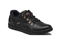 Мужские кожаные туфли Leather black shoes, фото 1