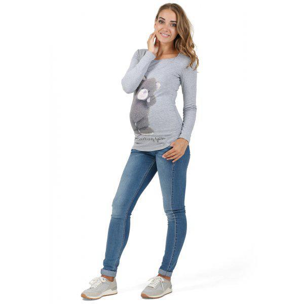 Лонгслив РИТА для беременных и кормления ТМ l LOVE MUM серый меланж