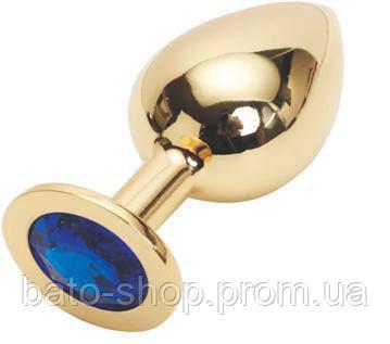 GOLDEN PLUG LARGE (втулка анальная) цвет кристалла синий, L 95 мм, D 41 мм, вес 160г
