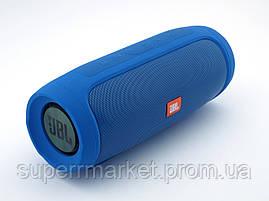 JBL Charge 4 E4 копия, портативная колонка 20W  с Bluetooth FM MP3, синяя, фото 3