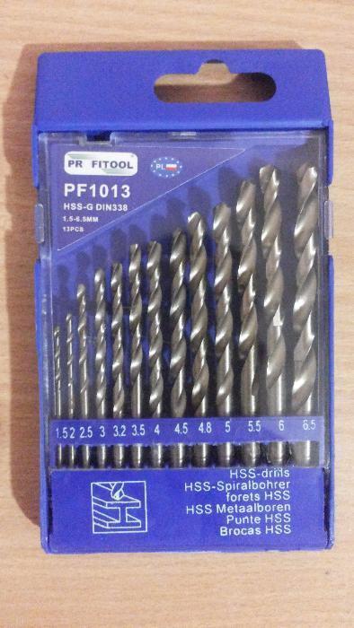 Набор сверл по металлу PF1013 от 1.5 до 6.5 мм