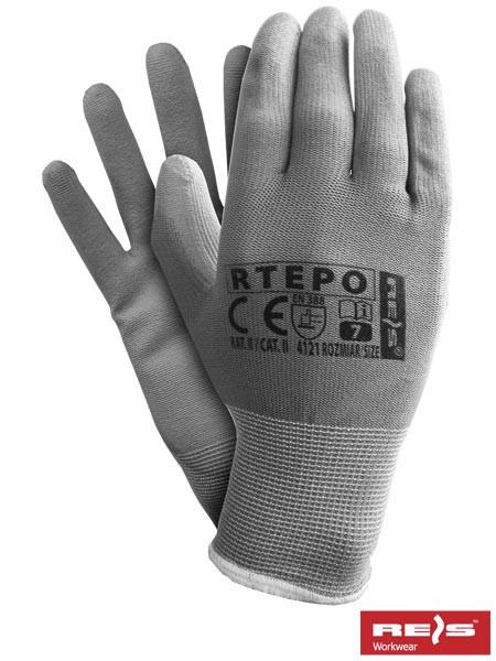 Перчатки RTEPO SS для максимально точных работ с полиуретановым покрытием (cерого цвета, с.8)