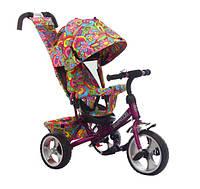 Трехколесный велосипед Tilly Trike T-344-2 фиолетовый, колеса EVA