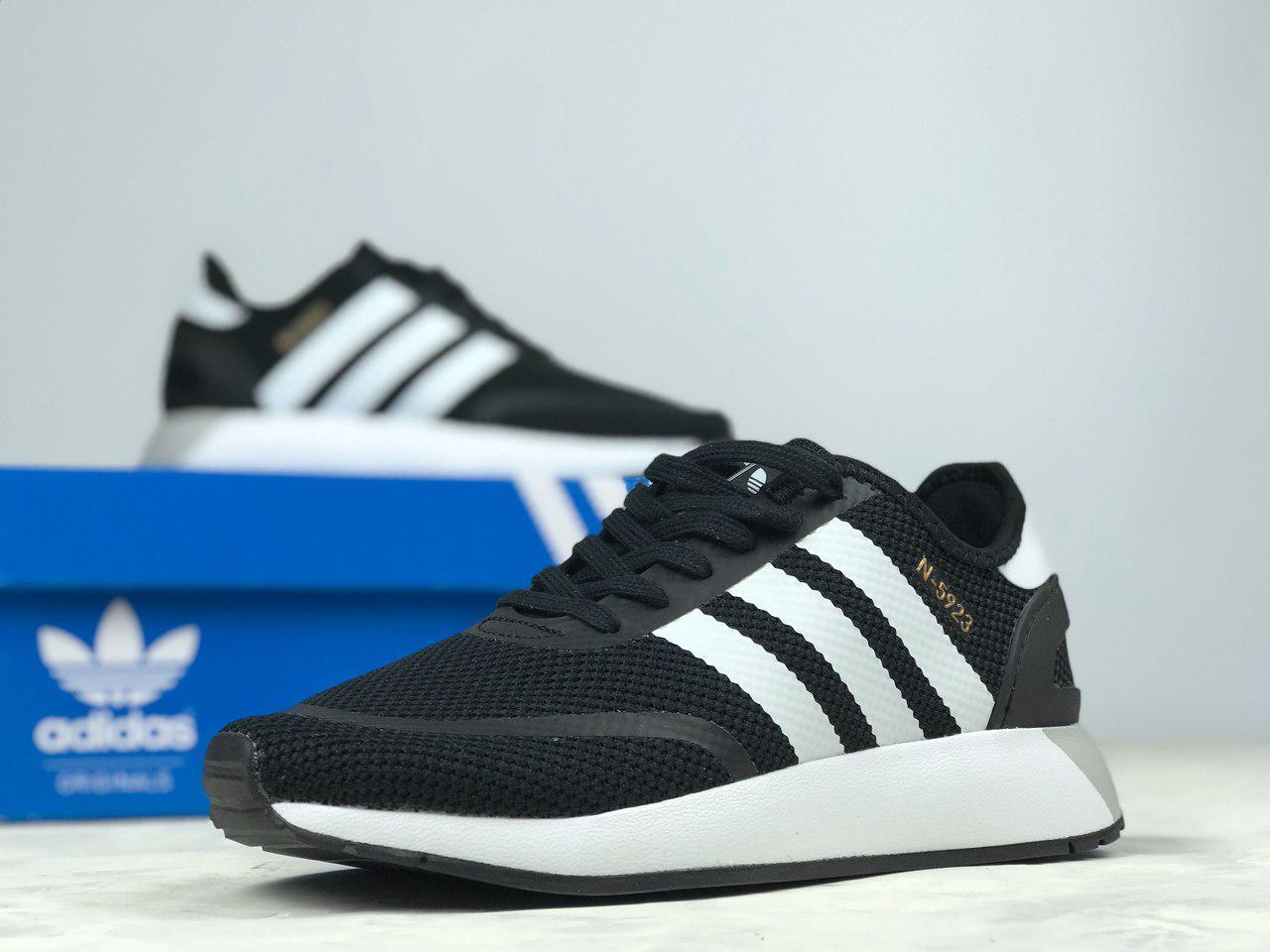 10e9de68e8fc Adidas N-5923 Black   кроссовки женские и мужские  летние  черно-белые