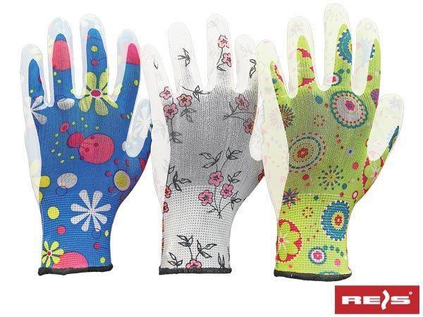 Перчатки защитные RGARDEN- PU - BLUE с полиуретановым покрытием р.8