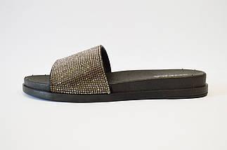 Шлепанцы женские черные со старазами Sopra PT-02, фото 3