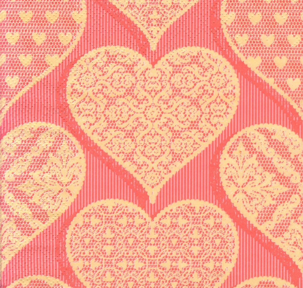 Салфетка декупажная Сердца 7332
