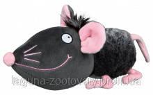 TX-35793Игрушка Мышь с большой головой (плюш) 33см, чёрный/розовый для собак, фото 2