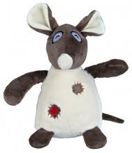 TX-35961 Игрушка Крыса с заплатками (плюш) 16см дя собак