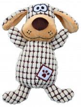 TX-35977 Игрушка Собака клетчатая (плюш/ткань) 26см, без пищалки
