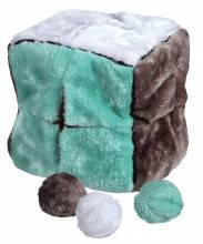 TX-3613 Куб с разрезами + 4мяча (плюш) игрушка для собак 21,5см, фото 2