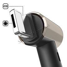 Кабель USB-Lightning/MicroUSB Baseus T-type Magnet Cable CALTX-A1V (Black/Gold, 1.2м), фото 2