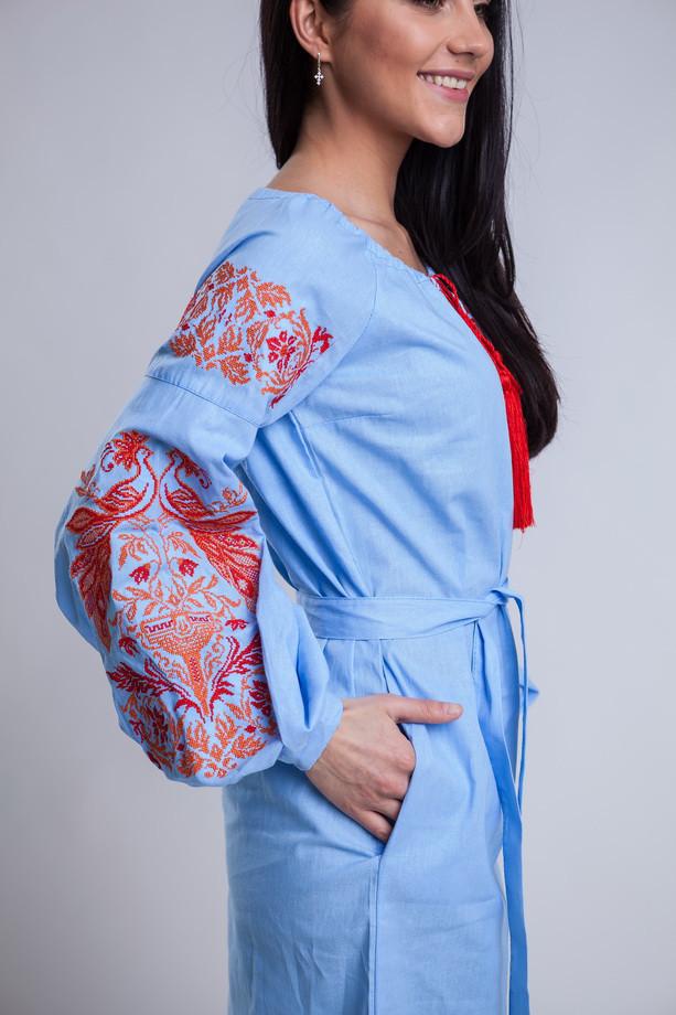 ... Женское платье вышиванка из сказочным узором Жар-птицы 28bdef1a62ade