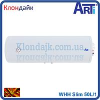 Бойлер с мокрым теном Arti серия Slim 50 литров горизонтальный монтаж (Македония) WHH Slim 50L/1
