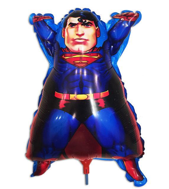 Воздушный шар из фольги Супермен на палочке 26 * 42 см