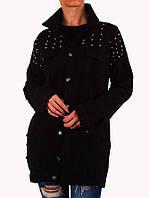 Черная джинсовая куртка оверсайз с бусинами Noemi Kent Paris (Франция) Черный