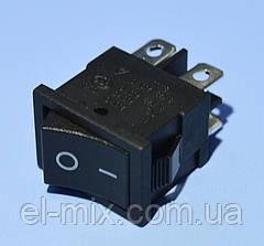 Выключатель RS-601D (MRS-201) черный 2-группы ON-OFF  PRK0114