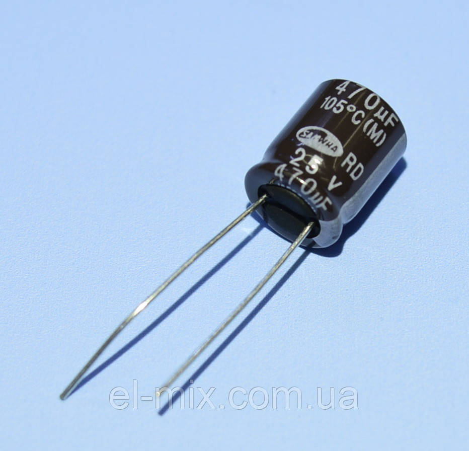 Конденсатор электролитический   470мкФ  25В Samwha 105*С RD 10*12.5